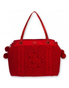 Please, please, please I must have this bag. Your website says it's not available.  But look at it! It's RED and it has POMPOMS.  Can't you see that it's mine?