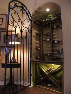 Wine Niche More Art Niche, Niche Decor, Ceiling Trim, Metal Gates, Entry Wall, Inside Home, Home Projects, Home Remodeling, Alcove Ideas