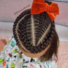 Ideal Children's Hairstyles With a Combination of Pigtails. Hairstyles Girly Your Daughter will Love Childrens Hairstyles, Lil Girl Hairstyles, Travel Hairstyles, Cute Hairstyles For Kids, Braided Hairstyles, Braids For Kids, Girls Braids, Curly Hair Styles, Natural Hair Styles