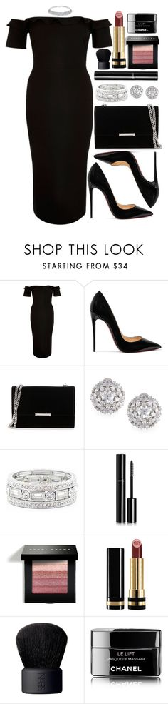 """Untitled #4514"" by natalyasidunova ❤ liked on Polyvore featuring River Island, Christian Louboutin, Ivanka Trump, Fallon, Sole Society, Chanel, Bobbi Brown Cosmetics, Gucci and NARS Cosmetics"
