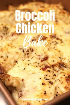 KETO Broccoli & Chicken Bake is a perfect weeknight dinner.  It is loaded with tons of flavor and low in carbs making this a dish everyone can enjoy!  Link in profile � � .� � #keto #ketomeals #ketorecipes #ketolife #ketogal #chicken #broccoli #cheese #casser