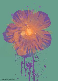 그리다 꽃 37 - 할로윈 그린 :) - 페인팅, 파인아트, 일러스트