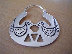 Silver 925 Chawai Uñun earrings Bird Jewelry, Ethnic Jewelry, Bohemian Jewelry, Metal Jewelry, Jewelry Art, Jewelery, Jewelry Design, Handmade Jewelry, Unique Jewelry