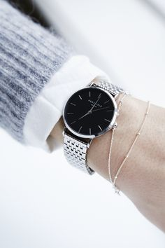 The Upper East Side in Black - Silver available at www.rosefieldwatches.com #rosefield #rosefieldwatches #uppereastside #UEScollection #watch #fashion #womenswatch #newyork #amsterdam #nyc