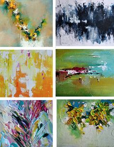Original abstract art paintings from Etsy favorite sellers