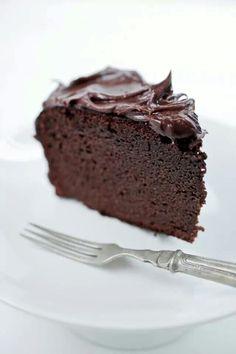 Plain, moist chocolate cake. The best dessert in the world!
