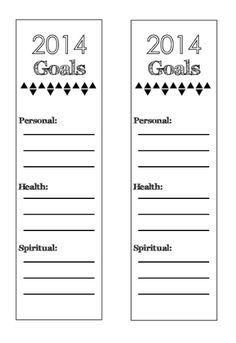 New Year's Resolution Bookmark: FREE Printable