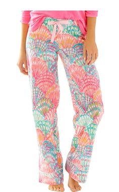 Printed Pajama Pant - Lilly Pulitzer Paradise Pink Rule Breakers