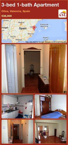 3-bed 1-bath Apartment in Oliva, Valencia, Spain ►€38,000 #PropertyForSaleInSpain