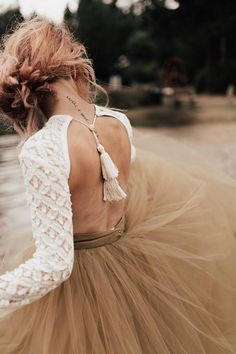 Stevie Bodysuit Wedding Separates Boho Wedding Dress