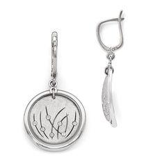 Sterling Silver Fancy Jewelry Pendants /& Charms 11 mm 45 mm Leslies Scrunch Pendant