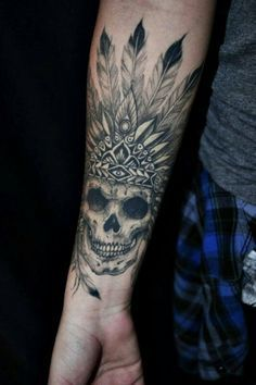 16 Best Indian Skull Tattoos Images Awesome Tattoos Drawings