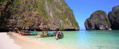 Maya Bay, Ko Phi Phi, Krabi Tourism Authority of Thailand. Bkk Hotel, Chuck Close Portraits, Krabi Hotels, Audubon Prints, Cozy Restaurant, Travel And Tourism, Rock Climbing, Phuket, Best Hotels