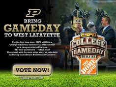 Let's get ESPN College GameDay to West Lafayette to shoot a commercial! Go vote now!