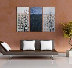 "Obraz - Cykl ""Bloki"" 3 x 30x60cm  http://allegro.pl/obraz-cykl-bloki-3-x-30x60-bcm-i3386872501.html  #painting #art #arcilic #city #inspiration #windows #gift #buy"