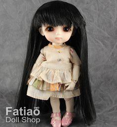 Fatiao  Dollfie Lati Yellow Pukifee 5-6 Doll Wig  Black by fatiao