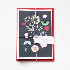 Seaflower Notecards by shapecolourpattern on Etsy