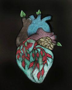 #illustration#heart#ilustración#corazon#rysunek#serce#goyarose