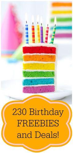 Huge List of Birthday Deals and Freebies! - Freebies2Deals