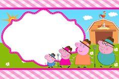 Peppa Pig Invitation Template Free Luxury Peppa Pig at the Farm Free Printable Invitations Oh Fiestas Peppa Pig, Cumple Peppa Pig, Holiday Party Invitation Template, Free Printable Invitations, Peppa Pig Background, Invitacion Peppa Pig, Bolo Da Peppa Pig, Peppa Pig Imagenes, Peppa Pig Printables