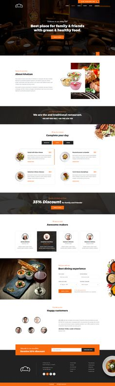 Restoran Hotel and Restaurant PSD Template is a very clean and modern designed PSD template for any Hotel and Restaurant business company. #psd #webdesign #webdesigninspiration