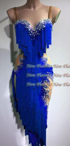 U6335 Fringing Ballroom Women Chaha Latin Samba Rumba dance dress Custom made #seavex #Dancedress #BallroomLatinChachaSambaSalasRumba