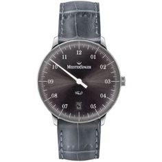 MeisterSinger Unisex-Armbanduhr Neo 1Z AnalogAutomatik Leder NE907 - http://uhr.haus/meistersinger-4/meistersinger-unisex-armbanduhr-neo-1z-leder