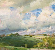 Keysley Farm; 40x44, oil on canvas, 2014 Oliver Akers Douglas