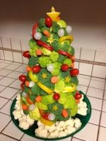Елочки из овощей. Идеи оформления праздничного стола