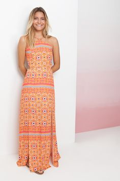 vestido longo estampado padang - Vestidos   Dress to