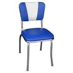 Richardson Seating V-Back Dining Chair Royal Blue/White - 4120RBL