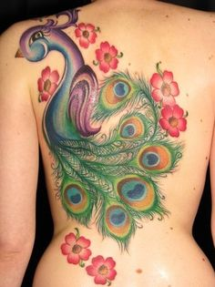 I would never get a tattoo this big, but it is very pretty..