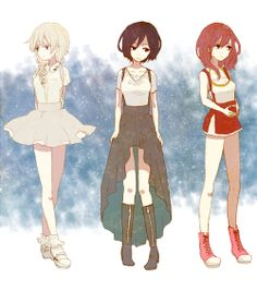 Kingdom Hearts Namine, Xion, and Kairi
