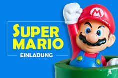 Super Mario Einladungskarten – free Printable Super Mario Party, Printables, Free, Fictional Characters, Birthday Party Invitations, Birthday Celebrations, Pokemon Birthday Card, Super Mario Birthday, Invitations