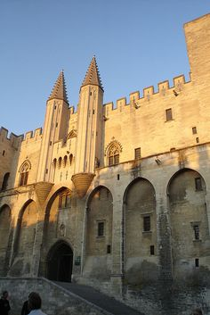 Papal Palace, Avignon. Built starting in 1252, six papal conclaves were held in the Palais.
