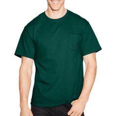 Hanes Big Men's Tagless Short Sleeve Pocket T-shirt, Size: 3XL, Green