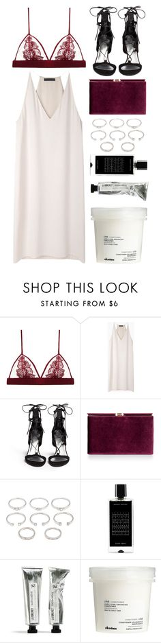 """""""regardless"""" by grey-eyes ❤ liked on Polyvore featuring moda, Fleur of England, The Row, Stuart Weitzman, Monsoon, Forever 21, Agonist y Davines"""