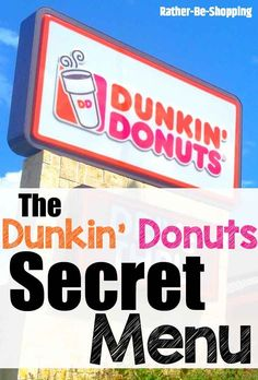 Dunkin Donuts Secret Menu: Get Your Dunk On With These New Treats