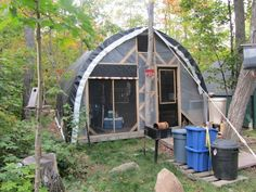 Affordable DIY temporary housing. Perfect for transitional housing, guest lodge, hunting quarters, or someplace to stay during the construction of your home.