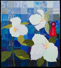 2013 Quilt Expo Quilt Contest, 2nd Place, Category 9, Wall Quilts, Machine Quilted Pictorial: Spring Gift, Ann Fahl, Mt Pleasant, Wis.
