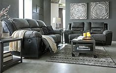 Earhart Manual Reclining Sofa | Ashley Furniture HomeStore Ashley Furniture Sofas, Drop Down Table, Wall Hugger Recliners, Upholstery Cleaner, Elements Of Style, 2020 Design, Reclining Sofa, Foam Cushions, Foot Rest