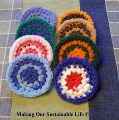 Make your own nylon scrubbies