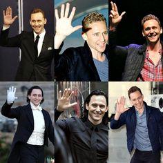 Tom Hiddleston wave