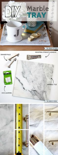 Check out this tutorial: #DIY Marble Tray #crafts #homedecor