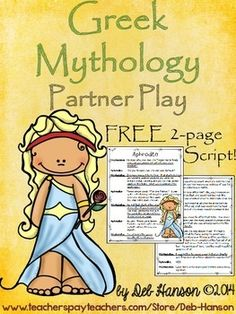 FREE Partner Play script related to Greek Mythology! Improve reading fluency with this Read to Someone activity for upper elementary students. 4th Grade Ela, 4th Grade Reading, Sixth Grade, Third Grade, Greek Gods And Goddesses, Greek Mythology, Teaching Reading, Reading Comprehension, Comprehension Questions