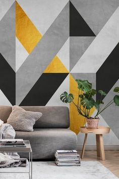 Wall Painting Living Room, Wall Painting Decor, Paint Colors For Living Room, Living Room Decor, Bedroom Decor, Bedroom Wall Designs, Wall Decor Design, Room Paint Designs, Interior Walls