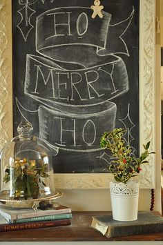 LOVE the frame blogger used in the making of this chalk board.