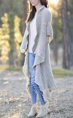 Endless Drape Kimono Duster Crochet Pattern – Mama In A Stitch