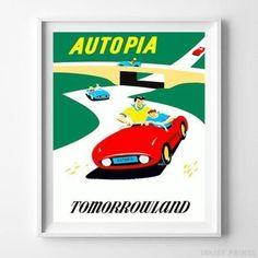 Amt 1959 el camino model car poster 3 in 1 customizing kit disney poster autopia tomorrowland disneyland home decor print no frame publicscrutiny Image collections