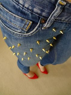 HouseOfColour DIY STUDDED JEANS